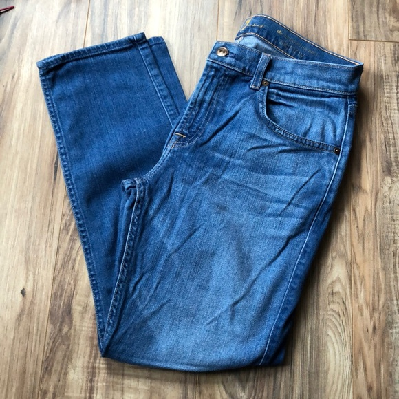 7 For All Mankind Denim - 7FAM Medium Wash Relaxed Mid Rise Skinny Jeans 29